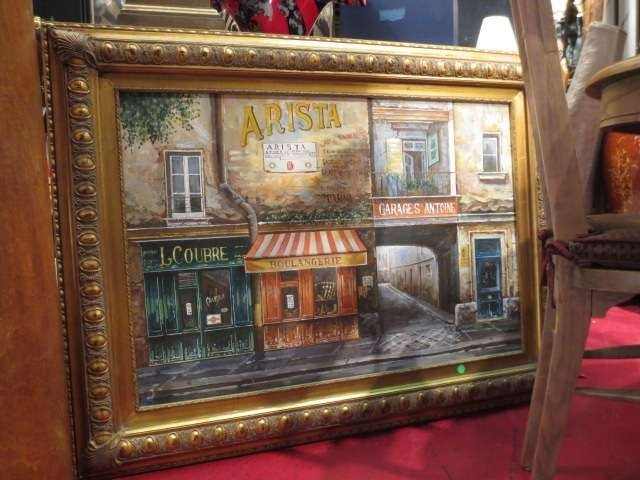 """100: M. CARRIERE FRENCH SCENE PAINTING DEPICTING """"ARIST"""