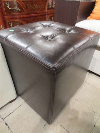 Marvelous 86 Carlo Perazzi Brown Leather Ottoman Tufted Top Ap Pabps2019 Chair Design Images Pabps2019Com