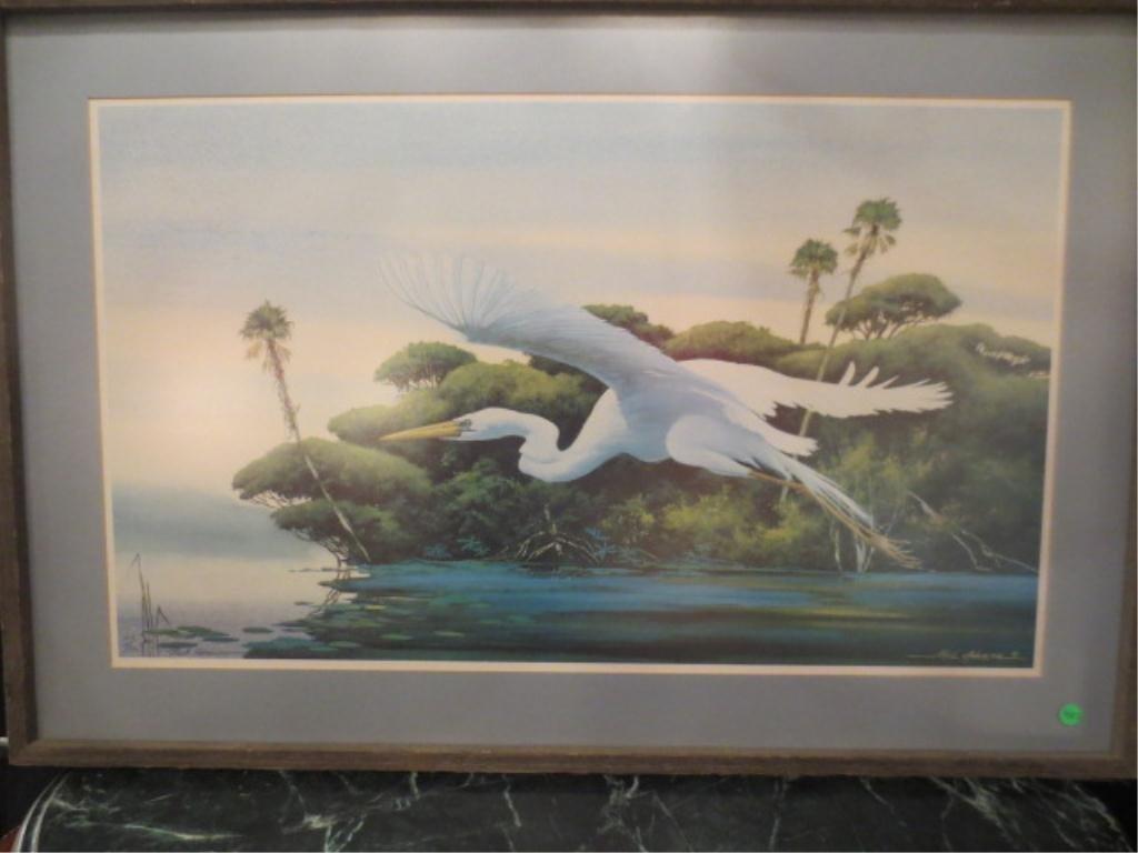 10: LIMITED EDITION NEIL ADAMSON LITHOGRAPH, FLORIDA SC