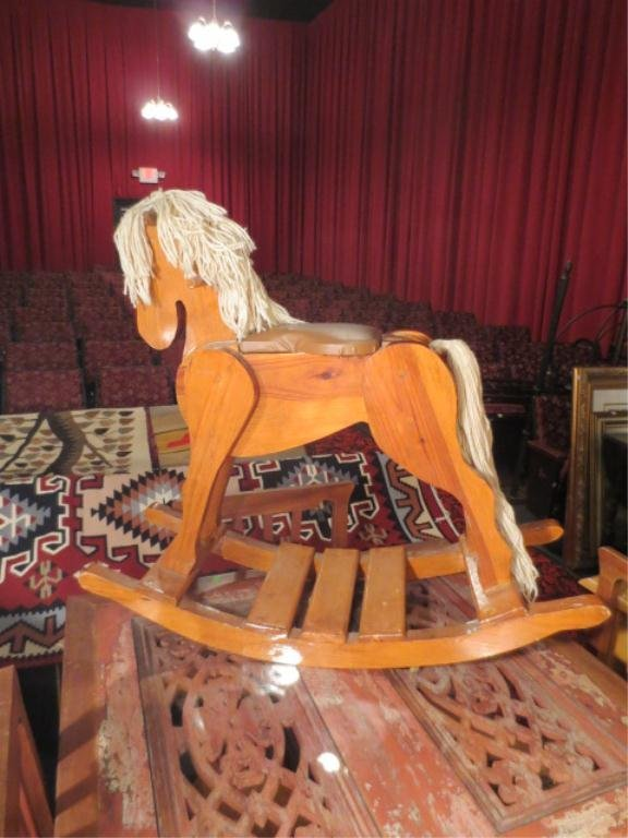 13: CARVED WOOD ROCKING HORSE, VERY GOOD CONDITION, APP