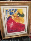 198 LARGE MARC CHAGALL LITHOGRAPH LIMITED EDITION NUM