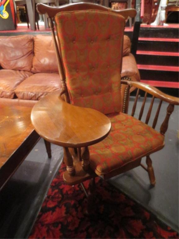 2: VINTAGE WRITING CHAIR, MEDIUM FINISH, WITH DRAWER BE