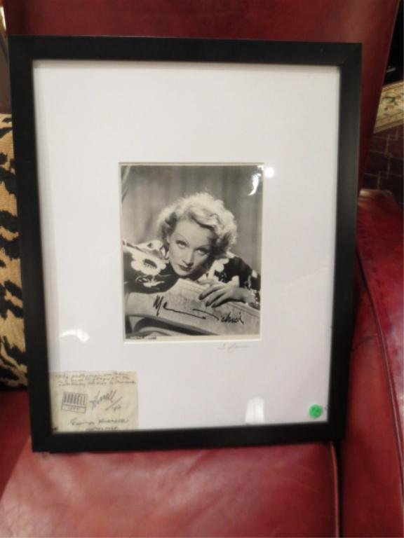 68: AUTOGRAPHED HURRELL PHOTOGRAPH OF MARLENE DIETRICH,
