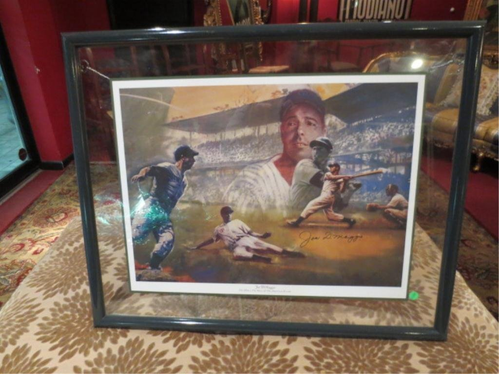 17: JOE DIMAGGIO AUTOGRAPHED LITHOGRAPH, WITH CERTIFICA