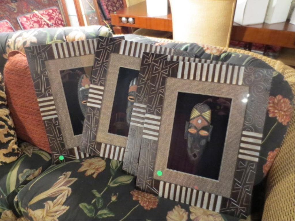 "4: SET OF 4 FRAMED MASKS, APPROX 18"" X 24"" FRAMED"