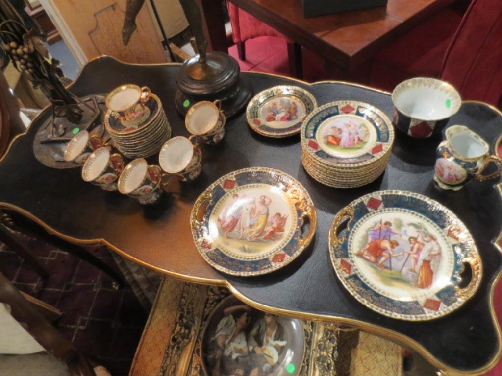 108: ROYAL VIENNA STYLE PORCELAIN GROUP, SOME PIECES MA