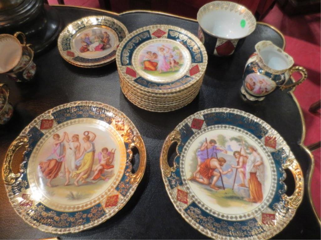 108: ROYAL VIENNA STYLE PORCELAIN GROUP, SOME PIECES MA - 3