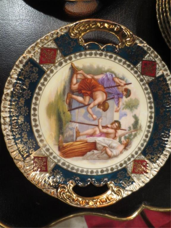 108: ROYAL VIENNA STYLE PORCELAIN GROUP, SOME PIECES MA - 7