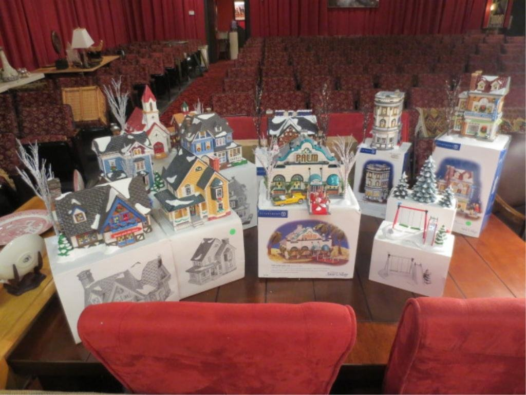 14: LARGE COLLECTION OF DEPT. 56, INCLUDES PALM LOUNGE,