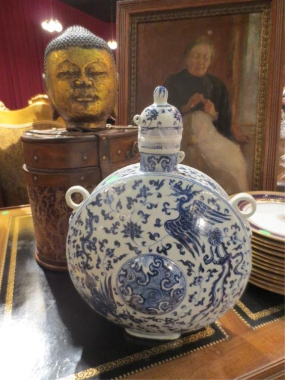 89: ANTIQUE CHINESE MING DYNASTY (1368-1664) BLUE & WHI