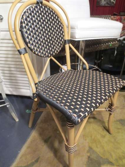 8: NEW NEVER USED DCOTA DESIGNER. RATTAN LOOK CHAIR, WO