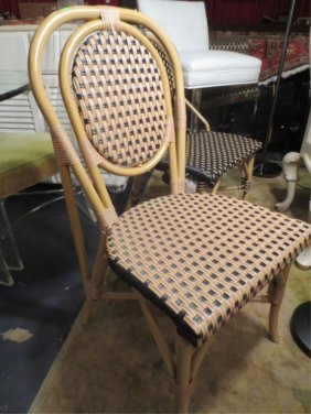 NEW NEVER USED DCOTA DESIGNER. RATTAN LOOK CHAIR, W