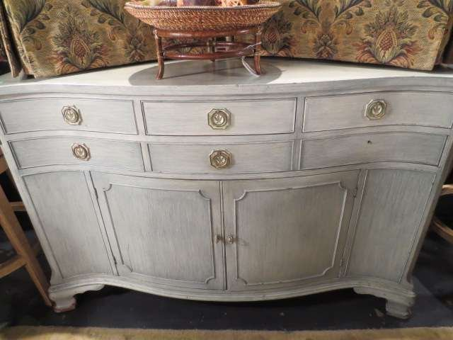 10: VINTAGE CHEST, PALE GREEN PAINTED FINISH, APPROX 6'