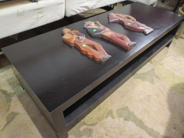 21: CONTEMPORARY ESPRESSO FINISH TV CONSOLE TABLE OR CO