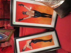 9: TWO LIMITED EDITION EROTIC LITHOGRAPHS, WOMEN IN BLA