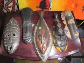 19: GROUP OF 15 AFRICAN MASKS & AN AFRICAN SCULPTURE, S