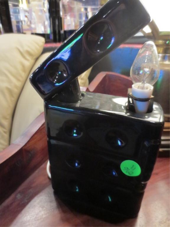 4: VINTAGE LAMP, CIGARETTE LIGHTER SHAPE CERAMIC BASE,