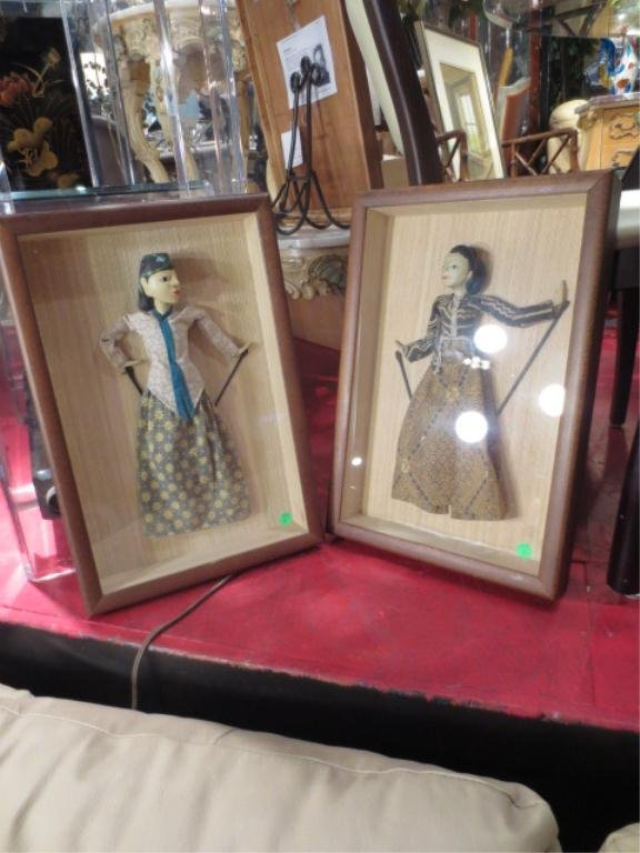 "11: PAIR OF FRAMED PUPPETS, APPROX 20"" X 13"" FRAMED"