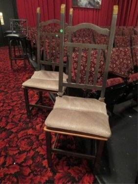 PAIR METAL AND WOOD CHAIRS, STEEL GRAY FINISH WITH