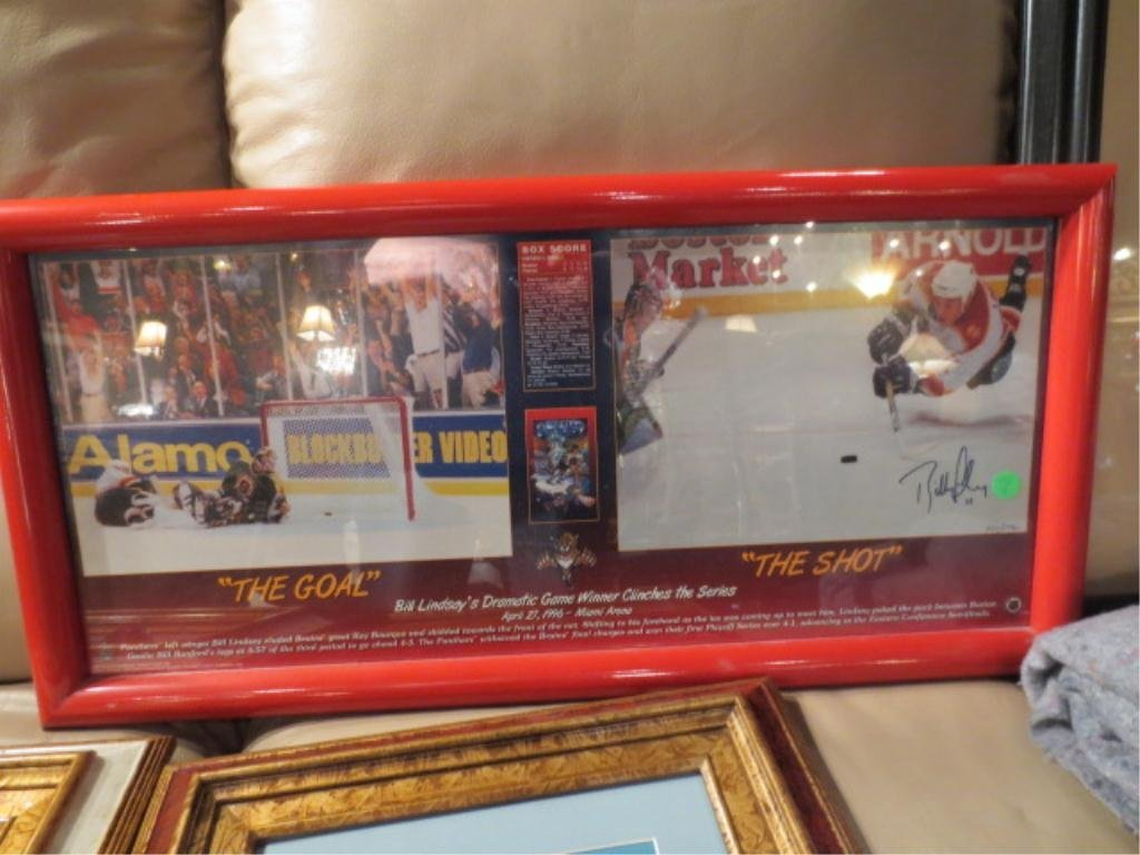 11: FLORIDA PANTHERS BILL LINDSAY SIGNED LITHOGRAPH, WI
