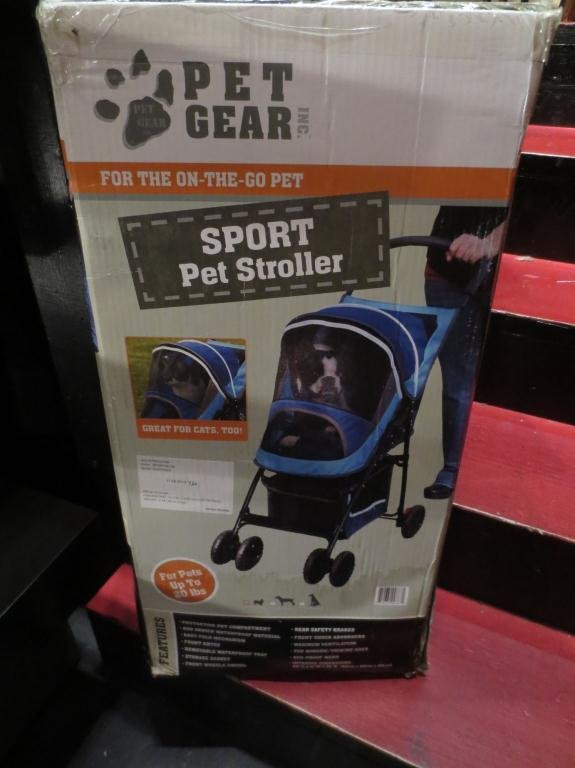 PET GEAR SPORT PET STROLLER IN BLUE, SUITABLE FOR CAT O