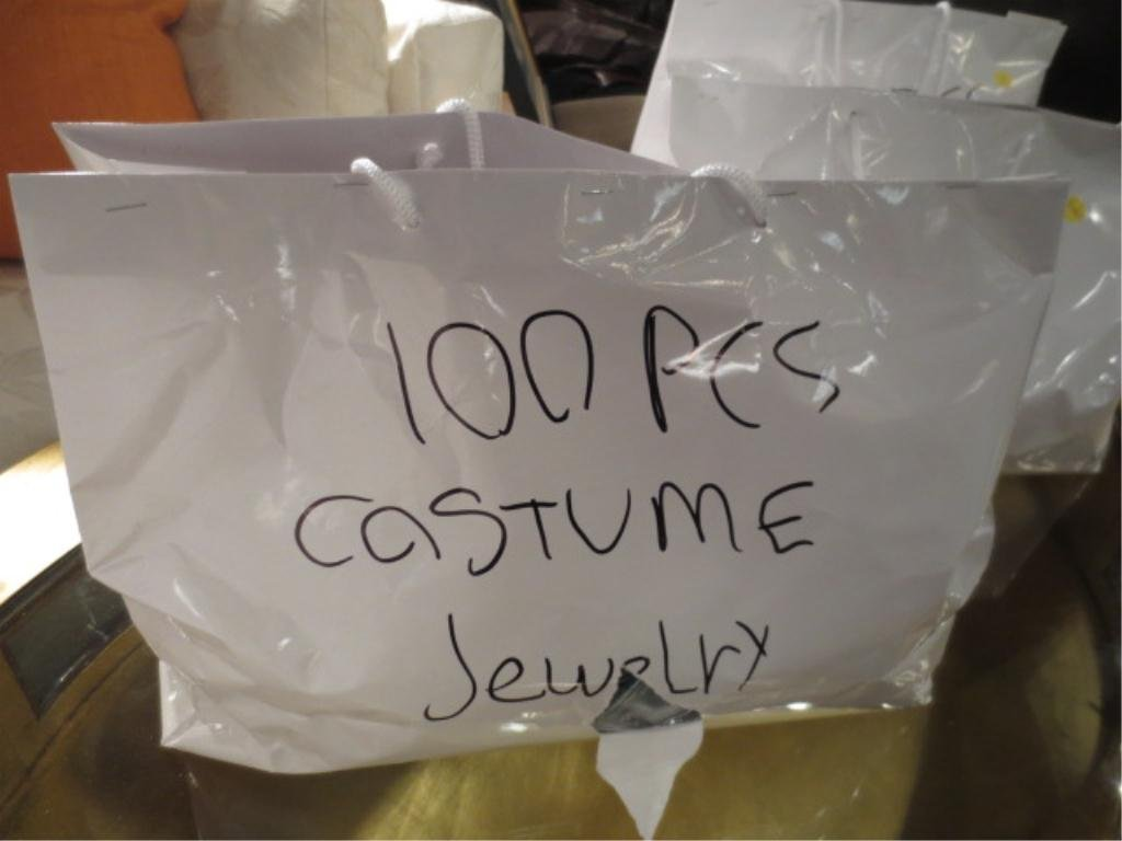 #2 OF FOUR AVAILABLE LOTS - 100 PIECES COSTUME JEWELRY