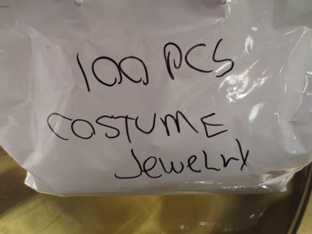 #3 OF FOUR AVAILABLE LOTS - 100 PIECES COSTUME JEWELRY