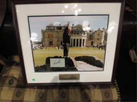 "FRAMED ARNOLD PALMER ""FAREWELL TO ST. ANDREWS, FINAL BR"