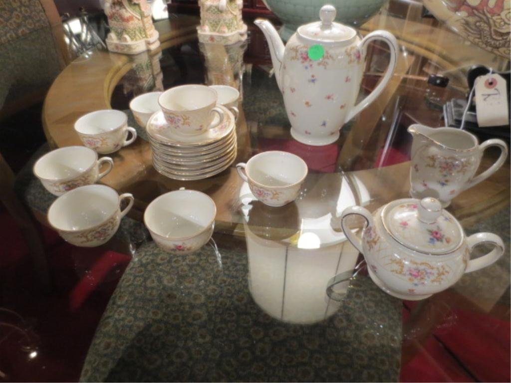 19 PC BAVARIAN CHINA DEMITASSE COFFEE SERVICE, INCLUDES