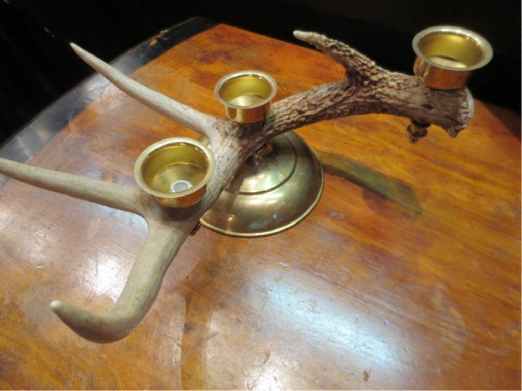 ANTLER CANDLEABRA, HOLDS 3 CANDLES