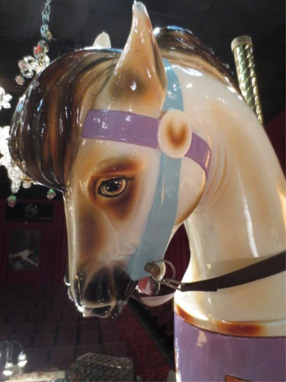 LARGE GENUINE CAROUSEL HORSE, REMODELED AS ROCKING HORS - 5