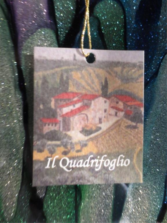 IL QUADRIFOGLIO ART GLASS BOWL, BLUE, GREEN &PURPLE FLO - 4