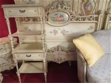 1 OF TWO AVAILABLE ITALIAN ROCOCO QUEEN BEDROOM SETS