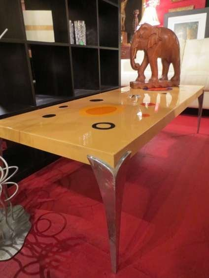 CONTEMPORARY COFFEE TABLE, CALDER INSPIRED DESIGN ON TO