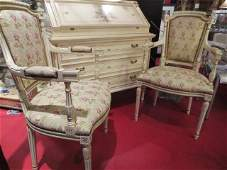 2 OF TWO AVAILABLE PAIRS LOUIS XVI STYLE ARMCHAIRS WH