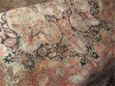 LARGE PERSIAN STYLE SILK RUG, SHADES OF CREAM, RUST, BL