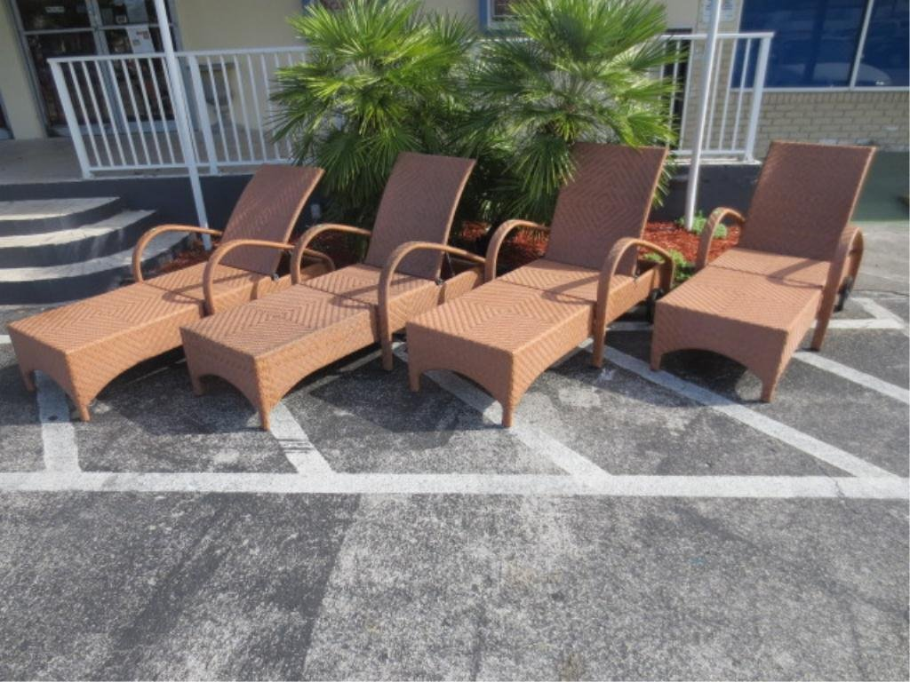 #1 OF TWO AVAILABLE PAIRS CONTEMPORARY PATIO LOUNGE REC