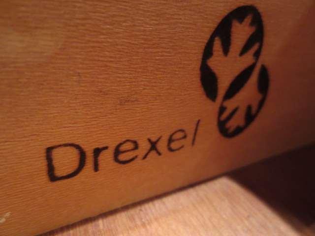 DREXEL FRENCH LOUIS XV STYLE WRITING DESK, BLACK FINISH - 8