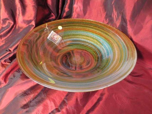 IL QUADRIFOGLIO ART GLASS BOWL, MULTICOLOR METALLIC CIR