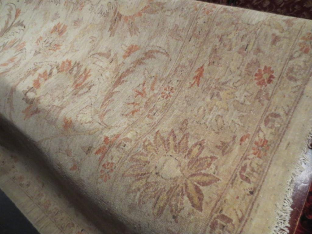 LARGE ORIENTAL CARPET, BEIGE WITH RED, BLUE, GOLD, APPR