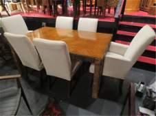 MIDCENTURY MODERN BRUTALIST TABLE, MANNER OF PAUL EVANS