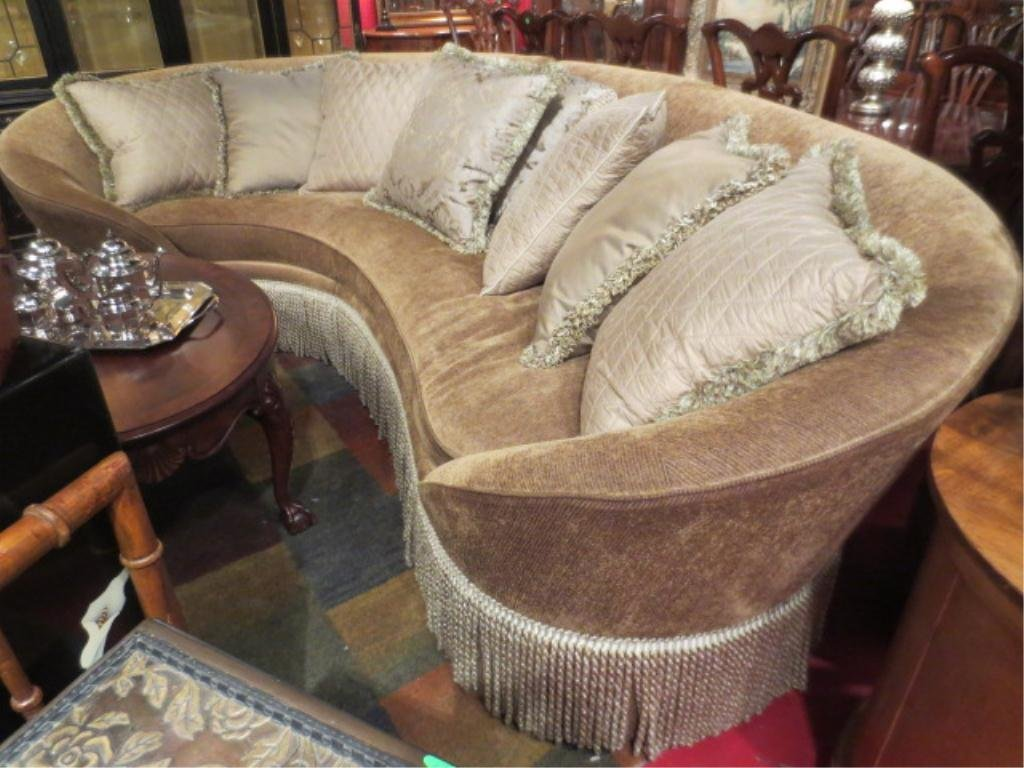 OPULENT CURVED SOFA BY COSMOPOLITAN, ASYMMETRICAL WITH