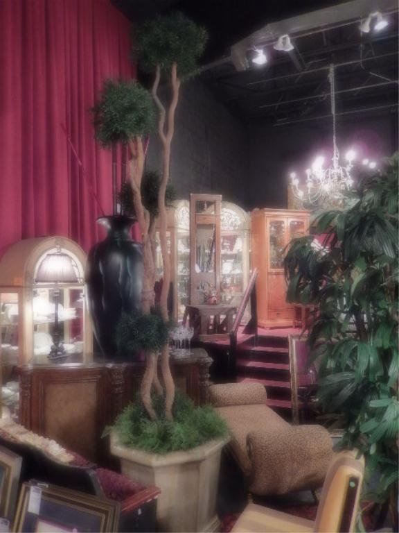 LARGE 12' FAUX TREE IN OCTAGONAL PLANTER