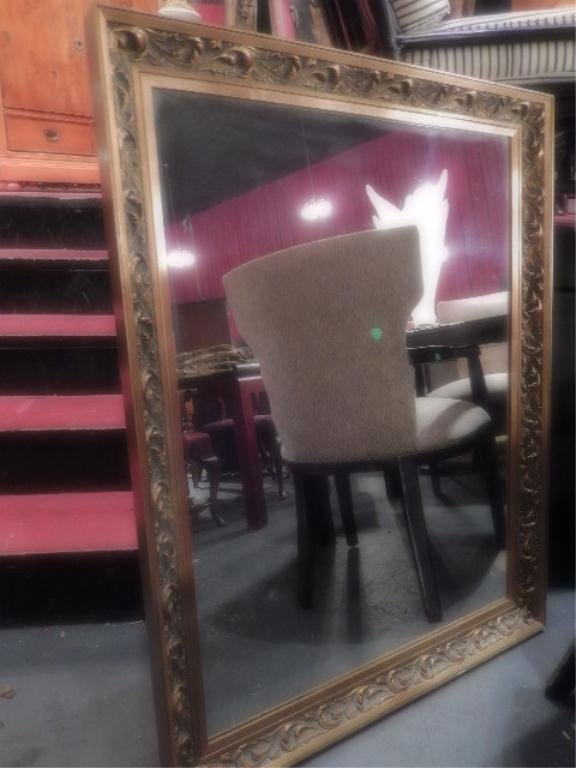 GOLD FRAME MIRROR, APPROX 3' X 4'