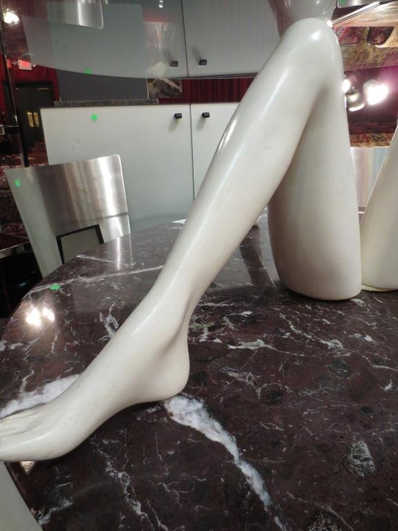 CONTEMPORARY POP ART COFFEE TABLE, THREE FEMALE LEGS - 2