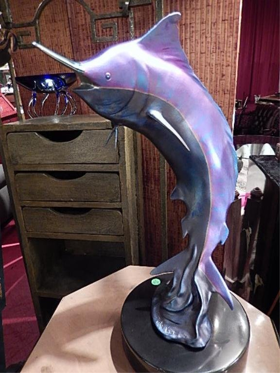 DALE EVERS LIMITED EDITION BRONZE SCULPTURE, IRIDESCENT
