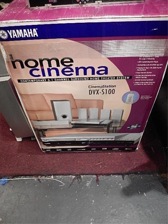 CINEMASTATION HOME THEATER SYSTEM, IN ORIGINAL BOX