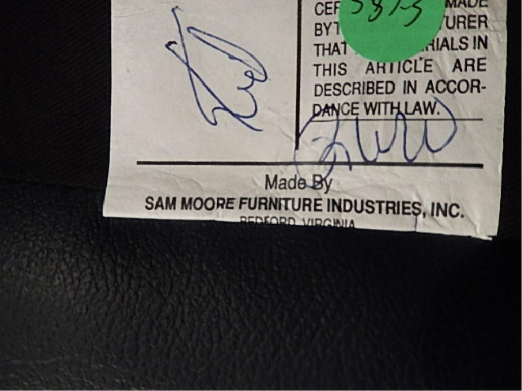 SAM MOORE LEATHER WINGBACK CHAIR, NAILHEAD TRIM, SLATE - 6