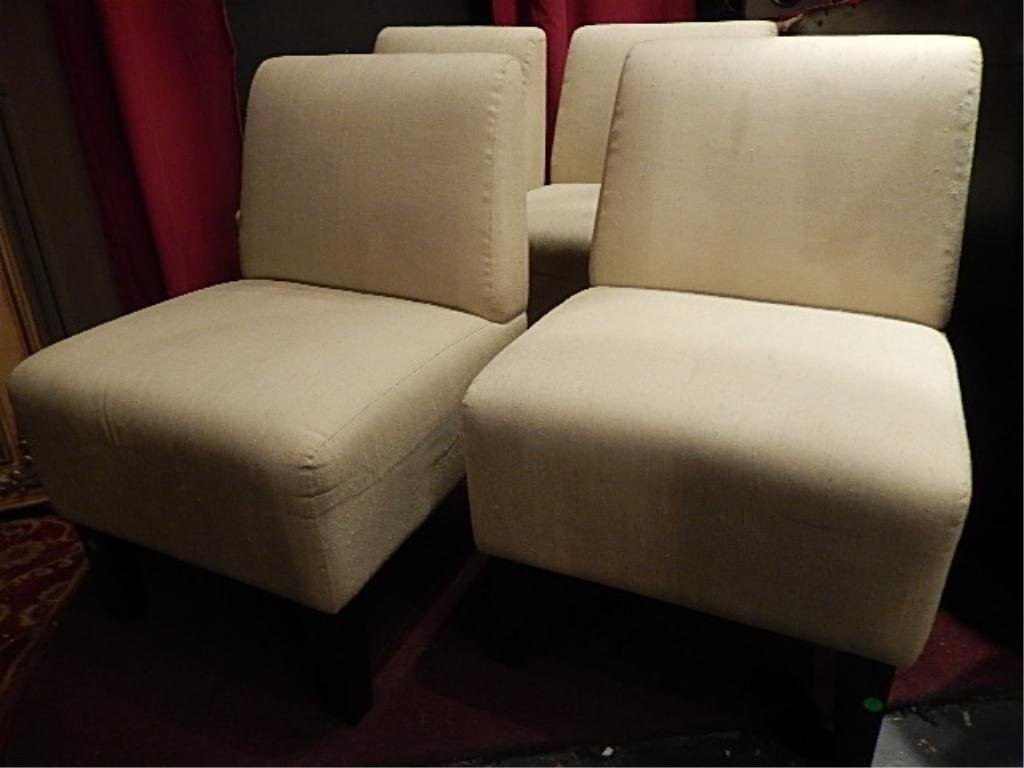 PAIR MODERN DESIGN SLIPPER CHAIRS, #1 OF TWO AVAILABLE