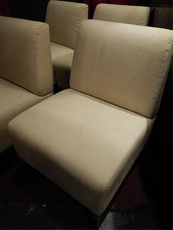 PAIR MODERN DESIGN SLIPPER CHAIRS, #2 OF TWO AVAILABLE